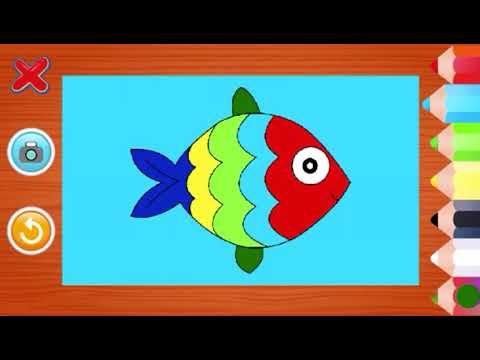 Kırmızı Balık Boyama Oyunu çocuk Boyama Oyunları Youtube