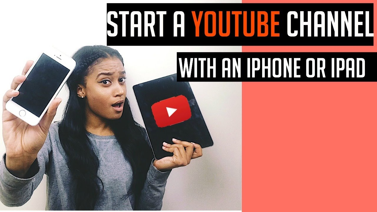 how to create a youtube channel on iphone
