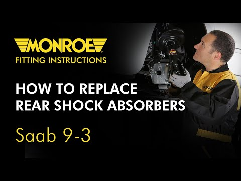 how to install a shock absorber saab 9 3 rear youtube rh youtube com 2005 Saab 9-3 Inside 2005 Saab 9 3 Problems