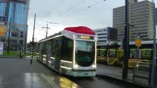 Kersttram - Christmas tram - Sky Radio Rotterdam (Alstom Citadis tram 2115)