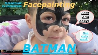 Fast and EASY BATMAN Facepainting