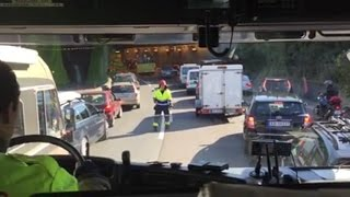 Ride-along Engine 6.1 Oslo FD to traffic accident