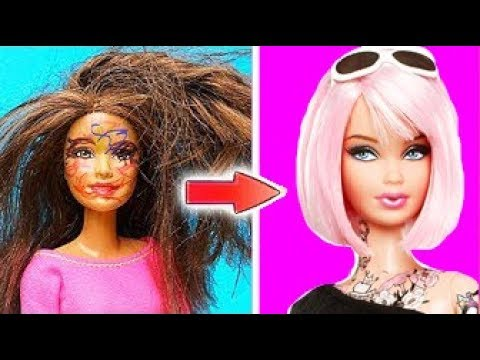 diy barbie hair transformations