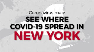 New York's coronavirus map: See where COVID-19 spread in March and April