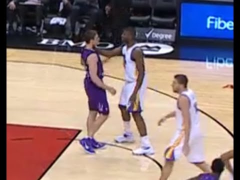 Festus Ezeli, Tyler Hansbrough ejected after scrapping: Warriors at Raptors
