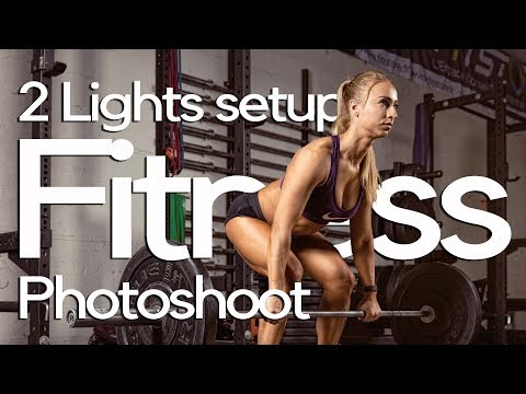 2 lights setup on a fitness photo shoot - Behind the scenes thumbnail