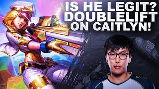 IS DOUBLELIFT ACTUALLY LEGIT? HE'S ON EUW WITH CAITLYN!   League of Legends