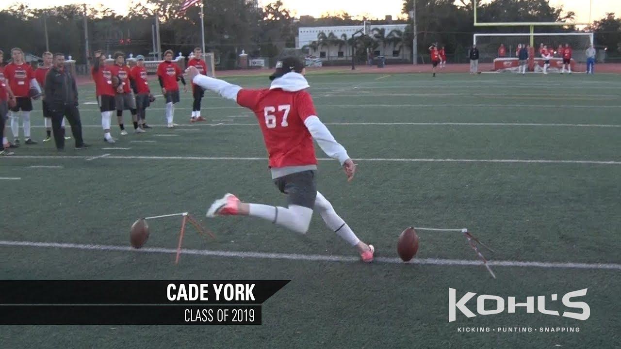 8505b91b46 2 Ranked Kicker in America | Cade York | Kohl's Kicking Camps - YouTube