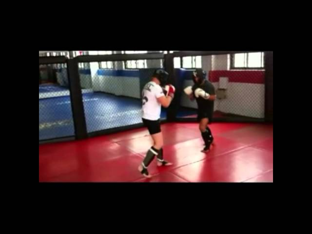 james THUNDER polodna  sparring ivan menjivar UFC fighter at TRISTAR GYM