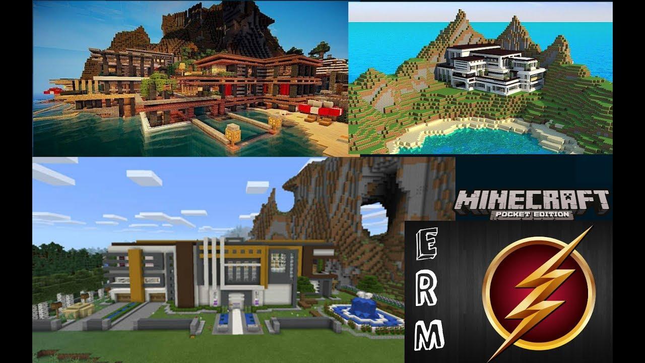 Mansiones modernas para minecraft pe 1 1 3 youtube for Mansiones modernas