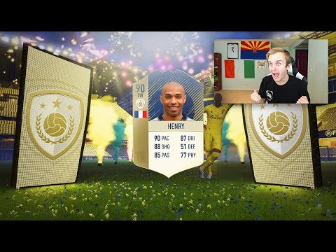 FIFA 18 - OMFG 90 ICON HENRY IN A PACK!!!