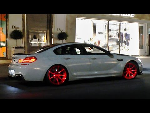 750hp Manhart BMW M6 w/Akrapovic exhaust - great sounds in London