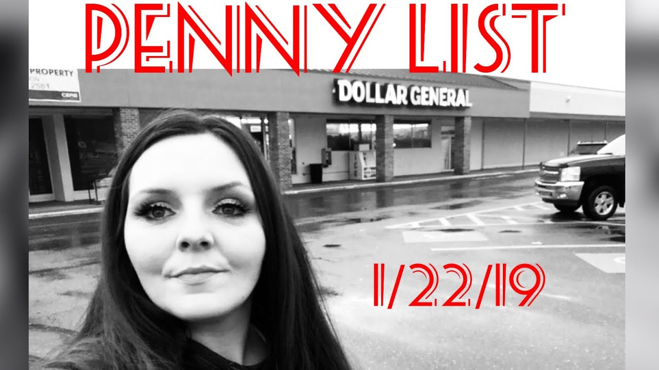 Penny Shopping List For Dollar General Tuesday January 22 2019