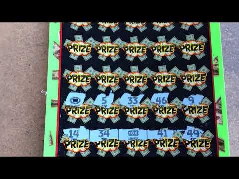 BIG WINNER ! All Symbols on One Ticket ! $10 Frenzy Multiplier Hoosier Lottery Scratch Off  !!