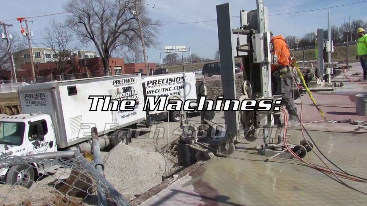 Concrete Wire Sawing - YouTube