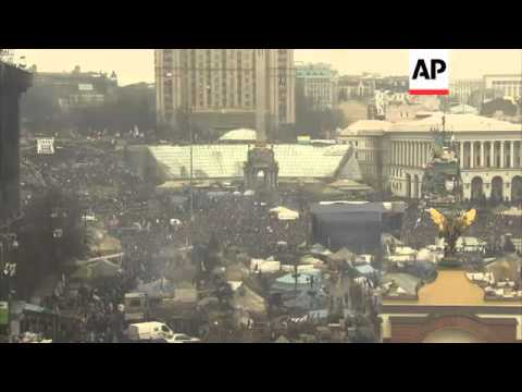 """Ukraine leader country """"on the brink ofdisaster""""; rally outside US Embassy/Maidan"""