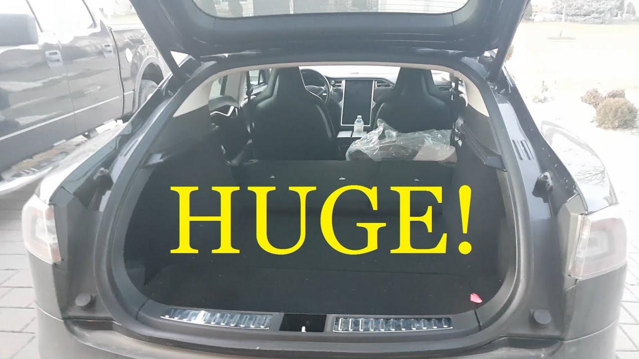 Tesla Model S Trunk Space