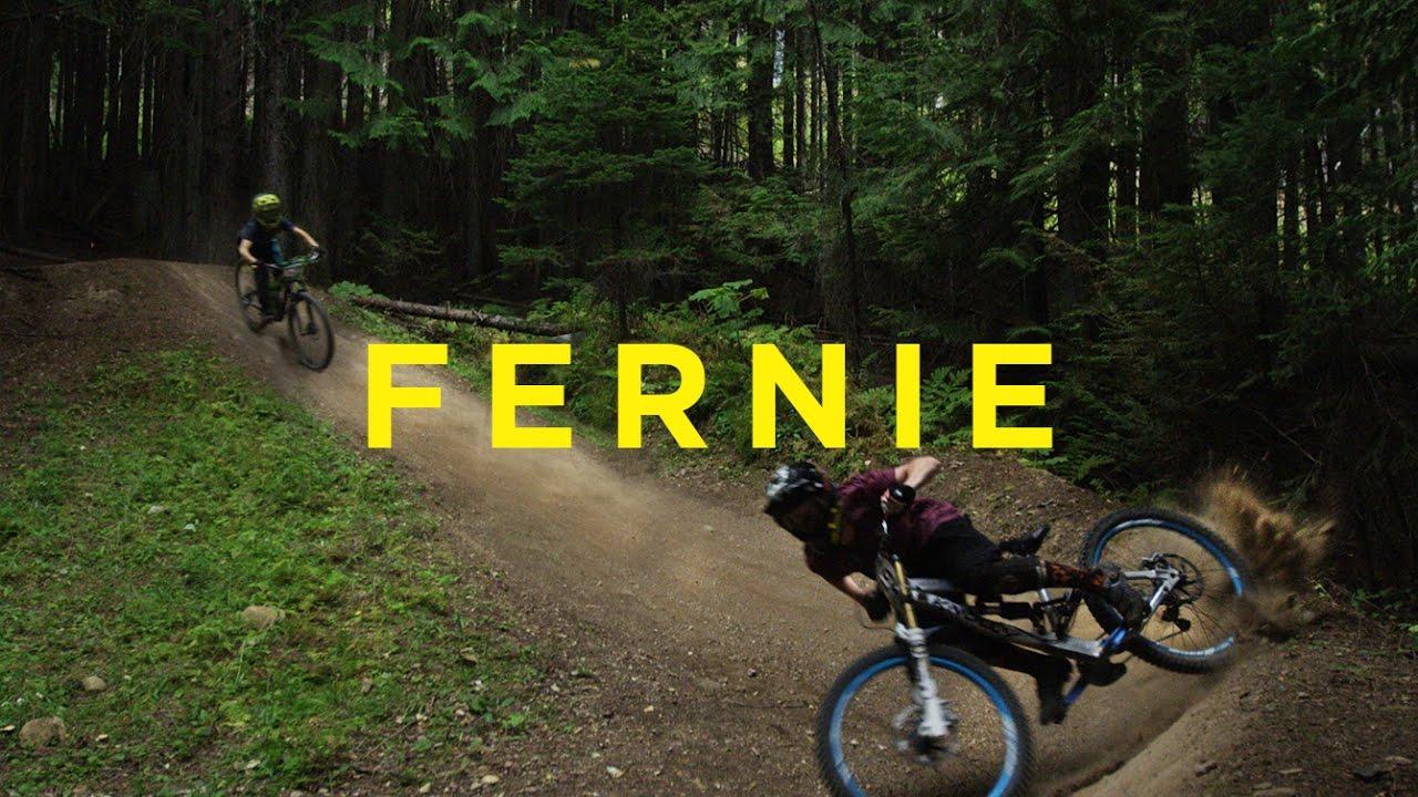 Mountain Biking At The Fernie Bike Park Youtube