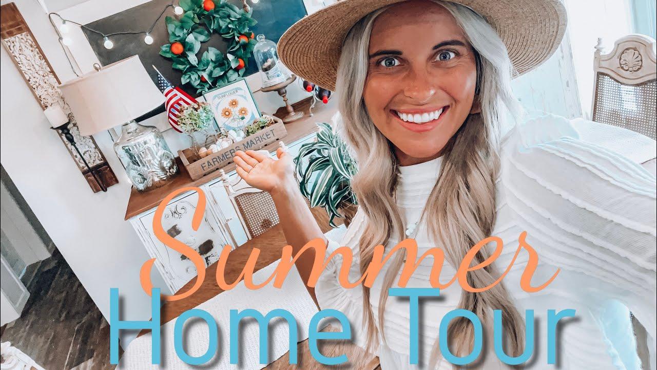 SUMMER HOME TOUR | FARMHOUSE+COASTAL THEME!!