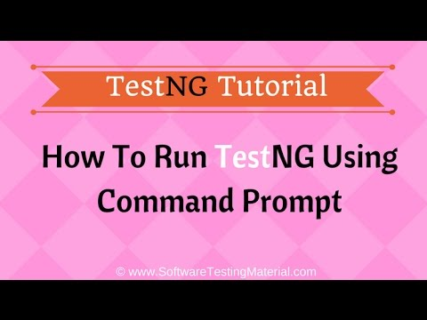 How To Run TestNG Using Command Prompt | Software Testing