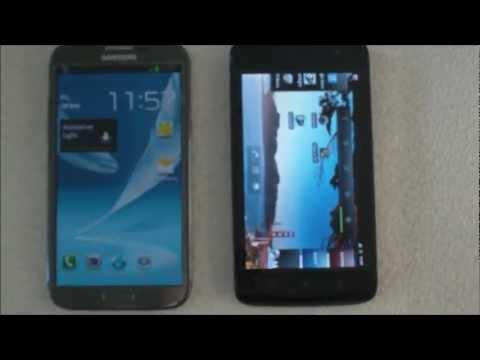Samsung Galaxy Note 2 vs Dell Streak 5 Tablet Smartphone Comparison
