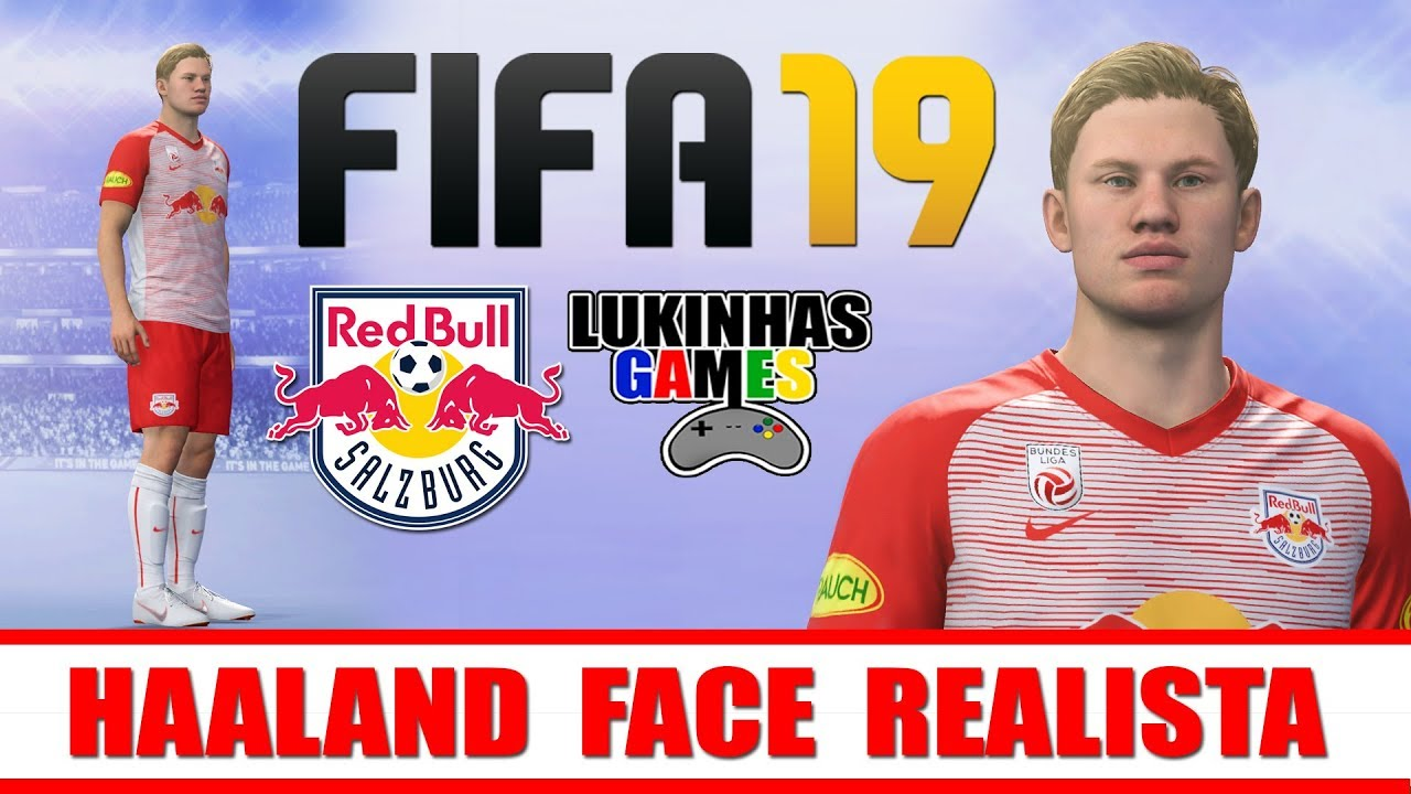 Fifa 19 Haaland Salzburg Borussia Dortmund How To Make Tutorial Face Realista Youtube