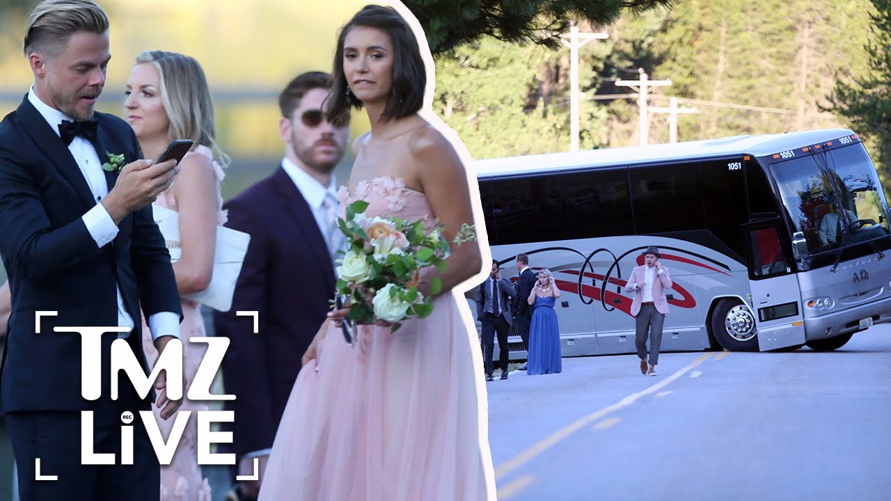 Julianne Hough S Wedding Party Had A Little Issue Getting To The Wedding Tmz Live