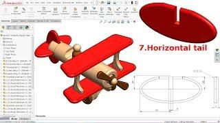 Підручник з SolidWorks дерев'яна іграшка літак 7.Горизонтальне оперення