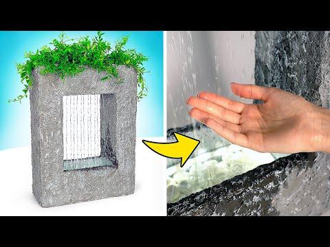 Самодельный декоративный водопад из цемента