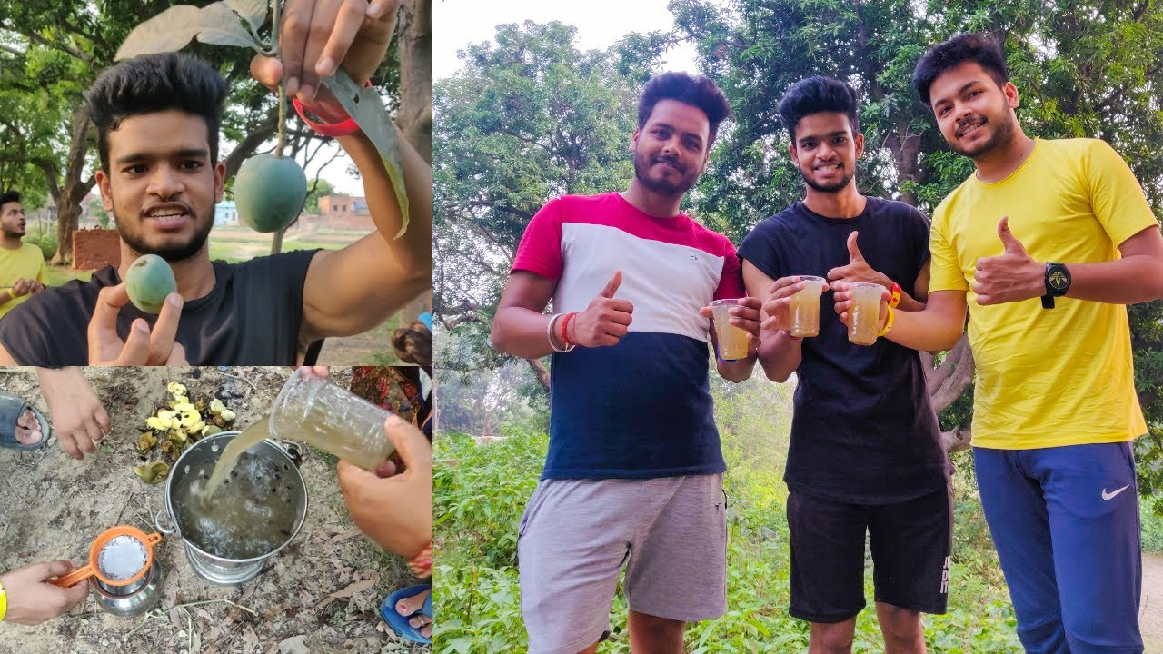 Aam Panna village style 🤤 || Indian Travelsingh