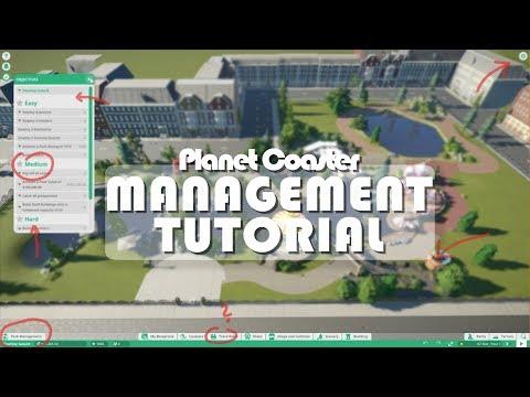 🐪 MANAGEMENT TUTORIAL | Planet Coaster | Scenarios, Guests, Settings & more!