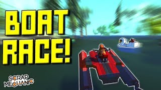 RACING BOATS on a FLOODED MAP!  - Scrap Mechanic Multiplayer Monday! Ep 103