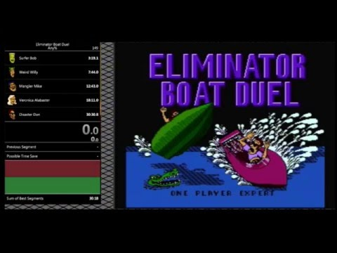 Eliminator Boat Duel (NES) - Expert (Any%) Speedrun: 30:18 [WR]