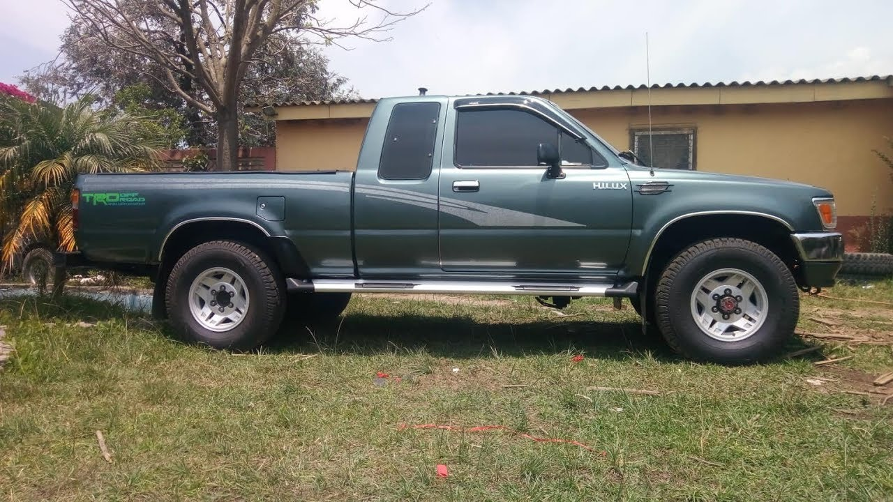 Toyota 22r Cabina Y Media Ano 94 Color Verde En Venta Youtube