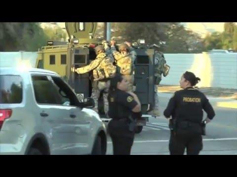 Imágenes inéditas de la persecución de los terroristas en San Bernardino Ca.
