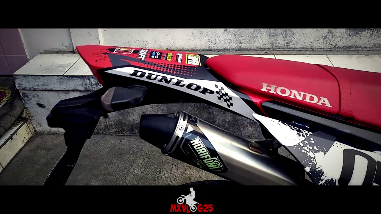 Modifikasi crf 150 supermoto decal 100 full body