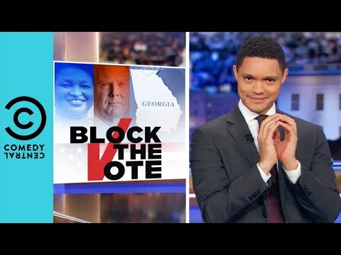 Georgia's Voter Registration Shadiness | The Daily Show With Trevor Noah thumbnail