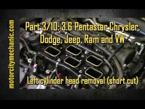 4 2l Engine Diagram Part 3 10 3 6 Pentastar Engine Left Cylinder Head Removal