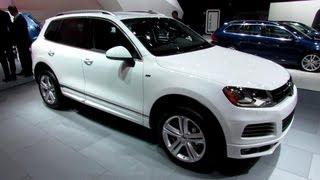 2014 Volkswagen Touareg TDI R-Line - Exterior and Interior Walkaround - 2013 Detroit Auto Show