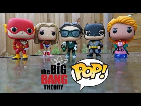 BIG BANG THEORY - JUSTICE LEAGUE FUNKO POPS