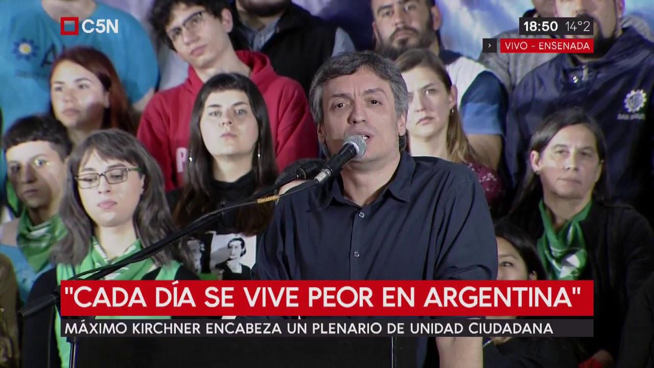 Máximo Kirchner encabeza un plenario de Unidad Ciudadana