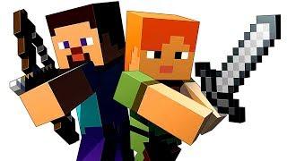 Minecraft PE (iOS) - Нубик ПАПА и ДОЧКА играем в Майнкрафт KIDS PLAY