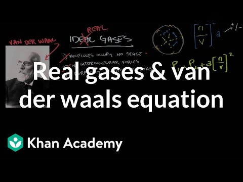 Real gases and the van der Waals equation | Physical Processes | MCAT | Khan Academy