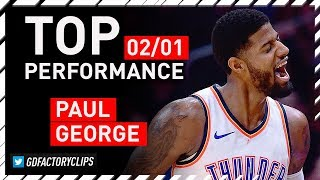 Paul George TOP Full Highlights vs Nuggets - 43 Points, All-STAR | 2018.02.01