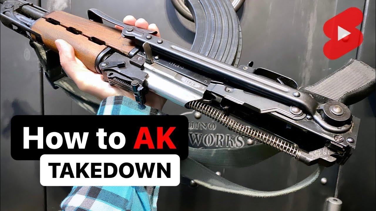 How to Take Apart an AK47 #Shorts