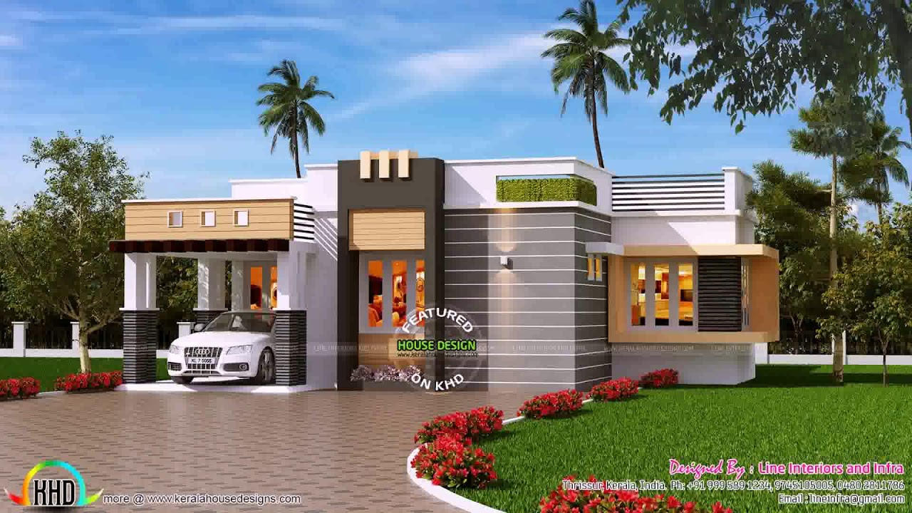 Contemporary 2 Story House Plans Kerala YouTube