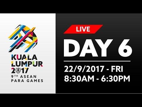 KL2017 LIVE 9th ASEAN Para Games | Day 6 - 22/09/2017