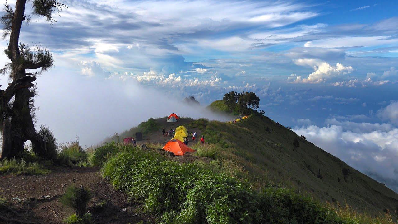 Hiking Mount Rinjani Indonesia In 4k Ultra Hd Youtube
