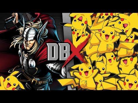 Thor VS 100 Pikachu | DBX