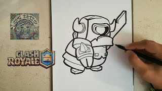 COMO DIBUJAR A MINI PEKKA - CLASH ROYALE / how to draw mini pekka - clash royale